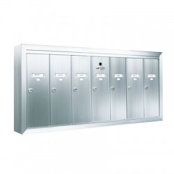 Standard 7 Door Vertical Mailbox Unit - Front Loading and Surface Mounted - 12507SMSHA