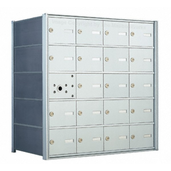 20 A-size Door Horizontal Mailbox Unit - Front Loading - 140054A