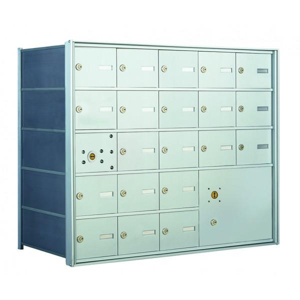 20  PLA-size Door and 1 Parcel Locker Horizontal Mailbox Unit - Front Loading - 140055PLA