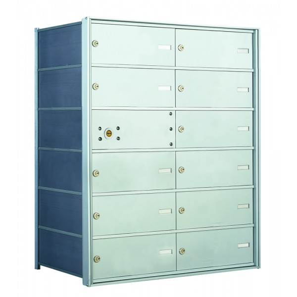 12 DA-size Door Horizontal Mailbox Unit - Front Loading - 140064DA