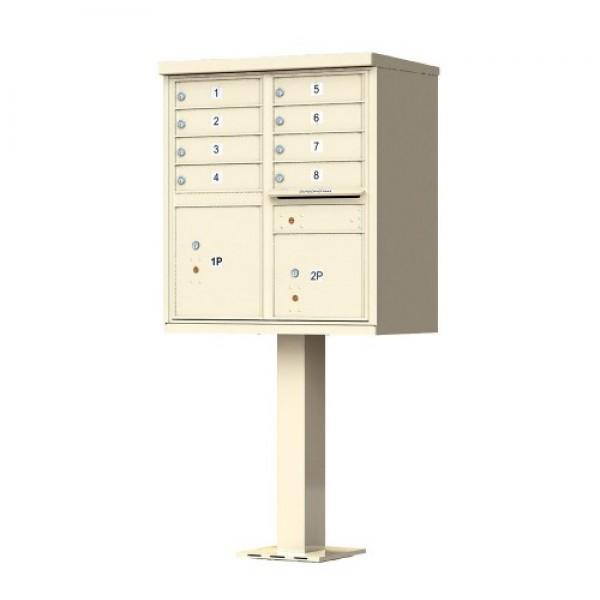 8 Tenant Door Standard Style CBU Mailbox (Pedestal Included) - Type 1 - 1570-8AF