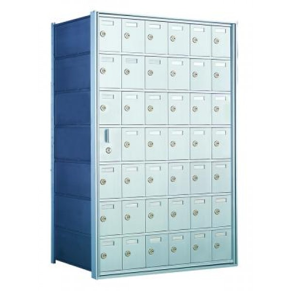 Custom 42 Door Horizontal Mailbox Unit - Front Loading - (41 Useable; 7 High) 160076-SP