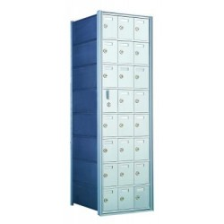 Standard 24 Door Horizontal Mailbox Unit - Front Loading - (23 Useable; 8 High) - 160083A