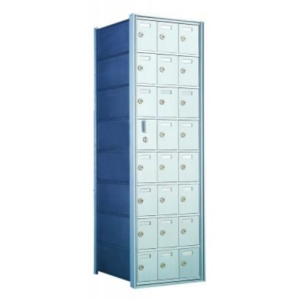 Custom 24 Door Horizontal Mailbox Unit - Front Loading - (23 Useable; 8 High) - 160083-SP