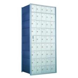 Custom 45 Door Horizontal Mailbox Unit - Front Loading - (44 Useable; 9 High) 160095-SP
