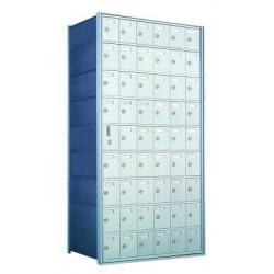 Custom 54 Door Horizontal Mailbox Unit - Front Loading - (53 Useable; 9 High) 160096-SP