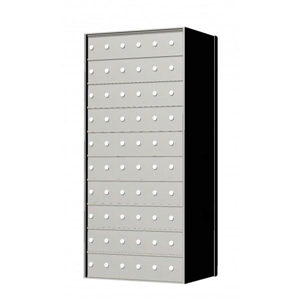 Custom 60 Door 10 High Horizontal Mailbox Unit - Rear Loading - 1700106SP