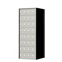 Custom 32 Door 8 High Horizontal Mailbox Unit - Rear Loading - 170084SP