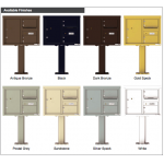 2 Over-sized Tenant Doors with 1 Parcel Door and Outgoing Mail Compartment (Pedestal Included) - 4C Pedestal Mount 6-High Mailboxes - 4C06D-02-P