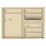 5 Tenant Doors with 1 Parcel Locker and Outgoing Mail Compartment - 4C Wall Mount 6-High Mailboxes - 4C06D-05