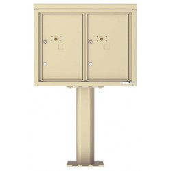 2 Parcel Door Unit - 4C Pedestal Mount 6-High (Pedestal Included) - 4C06D-2P-P