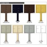 2 Parcel Door Unit - 4C Pedestal Mount 6-High (Pedestal Included) - 4C06D-2P-P