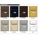 4 Tenant Doors with Outgoing Mail Compartment - 4C Wall Mount 6-High Mailboxes - 4C06S-04