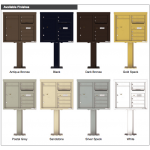 6 Tenant Doors with 1 Parcel Door and Outgoing Mail Compartment (Pedestal Included) - 4C Pedestal Mount 7-High Mailboxes - 4C07D-06-P