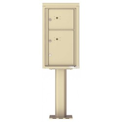 2 Parcel Doors Unit - 4C Pedestal Mount 8-High (Pedestal Included) - 4C08S-2P-P