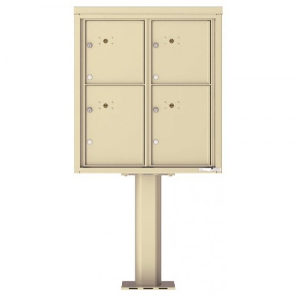 4 Parcel Door Unit - 4C Pedestal Mount 9-High (Pedestal Included) - 4C09D-4P-P
