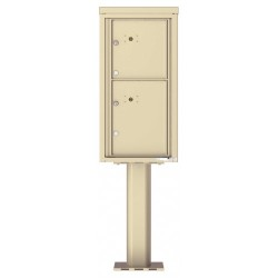 2 Parcel Doors Unit - 4C Pedestal Mount 9-High (Pedestal Included) - 4C09S-2P-P