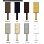 2 Parcel Doors Unit - 4C Pedestal Mount 9-High (Pedestal Included) - 4C09S-2P-P