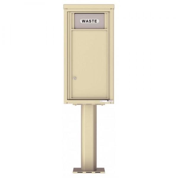 Trash / Recycling Bin (Pedestal Included) - 4C Pedestal Mount 9-High - 4C09S-BIN-P