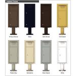 Collection/Drop Box Unit - 4C Pedestal Mount 10-High (Pedestal Included) - 4C10S-HOP-P
