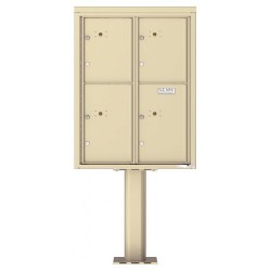 4 Parcel Door Unit - 4C Pedestal Mount 11-High (Pedestal Included) - 4C11D-4P-P
