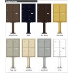 4 Parcel Door Unit - 4C Pedestal Mount 11-High (Pedestal Included) - 4C11D-4P-P