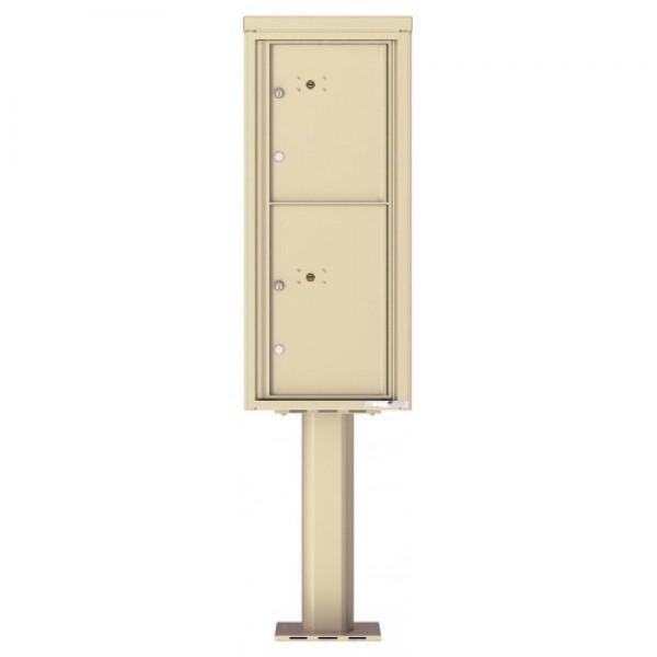 2 Parcel Doors Unit - 4C Pedestal Mount 11-High (Pedestal Included) - 4C11S-2P-P