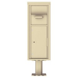 Collection/Drop Box Unit - 4C Pedestal Mount 12-High (Pedestal Included) - 4C12S-HOP-P