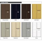 26 Tenant Doors and Outgoing Mail Compartment - 4C Wall Mount 14-High Mailboxes - 4C14D-26