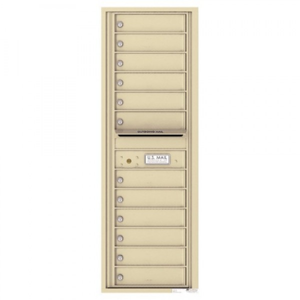 12 Tenant Doors with Outgoing Mail Compartment - 4C Wall Mount 14-High Mailboxes - 4C14S-12