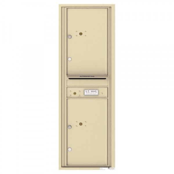 2 Parcel Doors with 1 Outgoing Mail Compartment Unit - 4C Wall Mount 14-High - 4C14S-2P