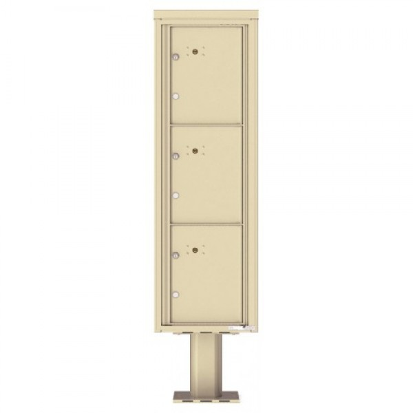 3 Parcel Doors Unit - 4C Pedestal Mount 15-High (Pedestal Included) - 4C15S-3P-P