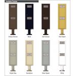 Trash / Recycling Bin (Pedestal Included) - 4C Pedestal Mount 15-High - 4C15S-BIN-P