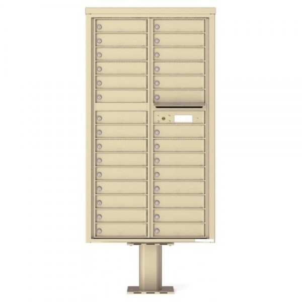 29 Tenant Doors with Outgoing Mail Compartment (Pedestal Included) - 4C Pedestal Mount Max Height Mailboxes - 4C16D-29-P