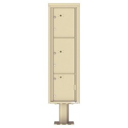 3 Parcel Doors Unit - 4C Pedestal Mount 16-High (Pedestal Included) - 4C16S-3P-P