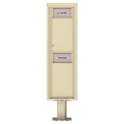 Trash / Recycling Bin (Pedestal Included) - 4C Pedestal Mount Max Height - 4C16S-BIN-P