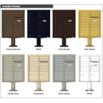 10 Tenant Doors with 2 Parcel Doors and 1 Outgoing Mail Compartment (Pedestal Included) - 4C Pedestal Mount ADA Max Height Mailboxes - 4CADD-10-P