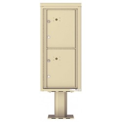 2 Parcel Doors Unit - 4C Pedestal Mount ADA Max Height (Pedestal Included) - 4CADS-2P-P