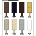 2 Parcel Doors Unit - 4C Pedestal Mount ADA Max Height (Pedestal Included) - 4CADS-2P-P