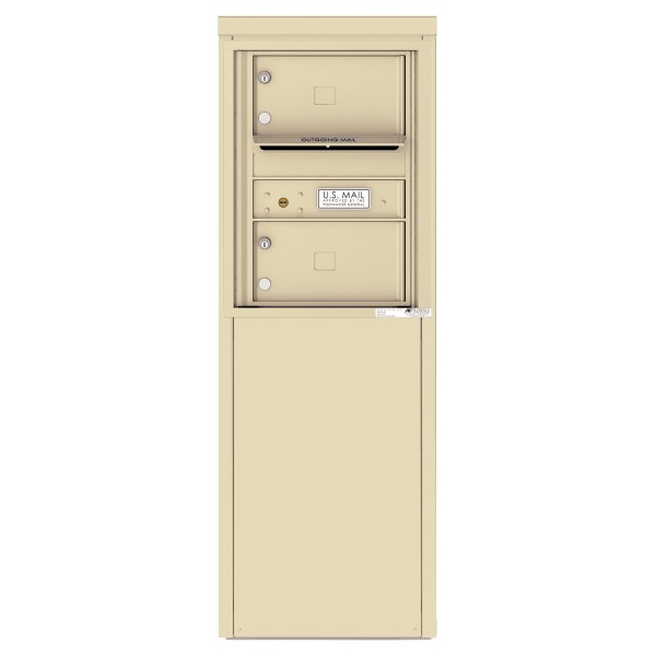2 Tenant Doors with one Outgoing Mail Compartment - 4C Depot Mailbox Module - 4C06S-02-D