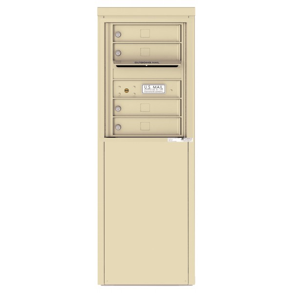 4 Tenant Doors with one Outgoing Mail Compartment - 4C Depot Mailbox Module - 4C06S-04-D