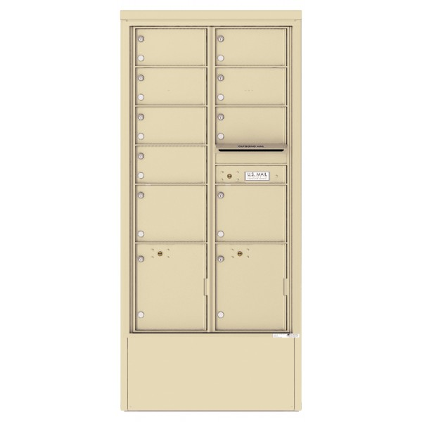 9 Tenant Doors with 2 Parcel Lockers and Outgoing Mail Compartment - 4C Depot Mailbox Module - 4C16D-09-D