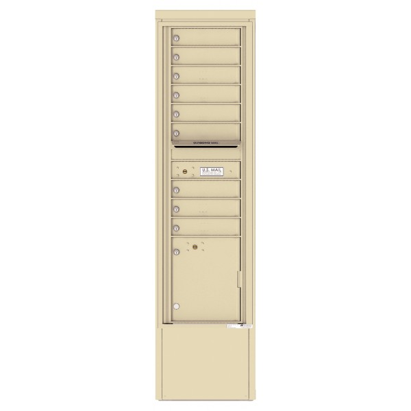 9 Tenant Doors with 1 Parcel Locker and Outgoing Mail Compartment - 4C Depot Mailbox Module - 4C16S-09-D