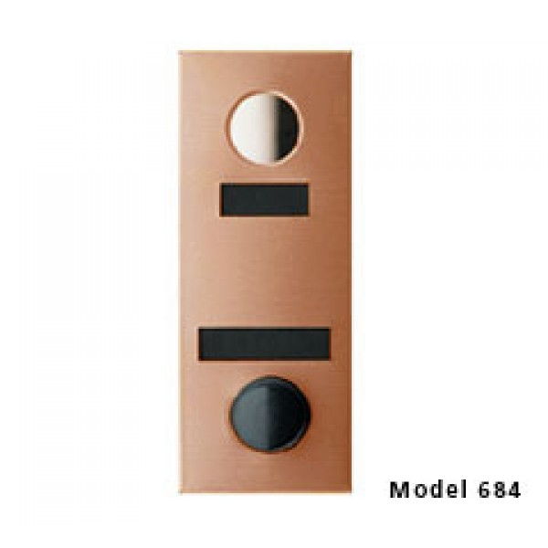 Mechanical Door Chime with Round Mirror Viewer and Name Cards (Bronze) - 684104-01