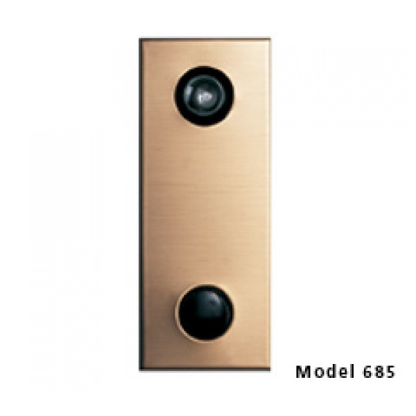 Mechanical Door Chime with Standard Viewer (Anodized Gold) - 685102-01