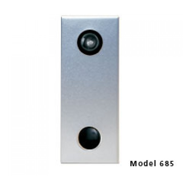 Mechanical Door Chime with Standard Viewer (Anodized Silver) - 685101-01