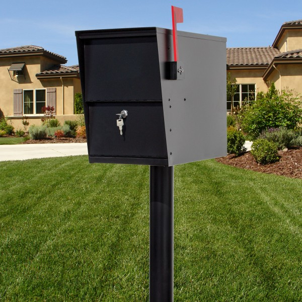 QualArc LetterSentry Galvanized Steel Rust Proof Locking Mailbox - Model LSLM-2000