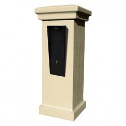 QualArc Vacation Mailbox Stucco Column Column in Sandstone Color - Model VAC-STUCOL-SS