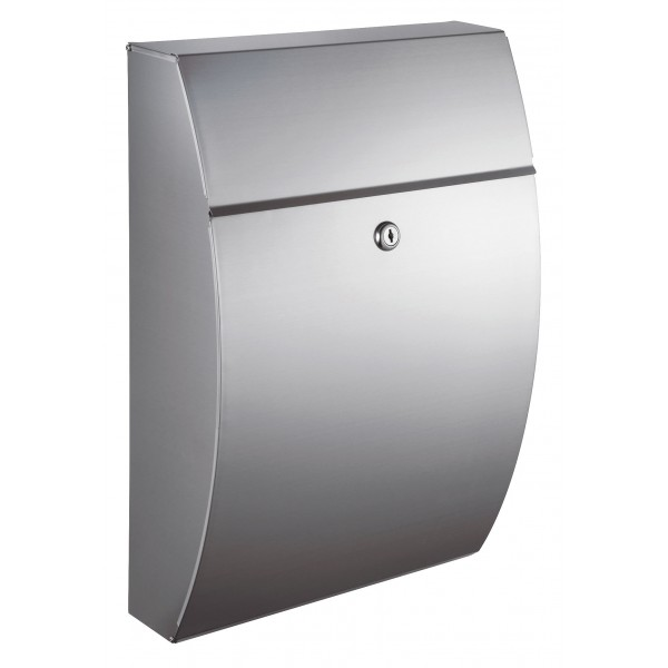 QualArc Glacial Locking Stainless Steel Mailbox - Model WF-0906A