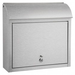 QualArc Compton Stainless Steel Locking Mailbox - Model WF-L33SL